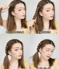 Kawaii Hairstyles, Ponytail Hairstyles, Cute Hairstyles, Kawaii Hair Tutorial, Shot Hair Styles, Long Hair Styles, New Year's Eve Hair, Hair Style Vedio, Korean Hair Color