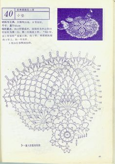 "Photo from album ""Interior crocheted"" on Yandex. Crochet Doily Diagram, Crochet Doily Patterns, Crochet Art, Crochet Home, Thread Crochet, Filet Crochet, Crochet Motif, Crochet Stitches, Crochet Dollies"