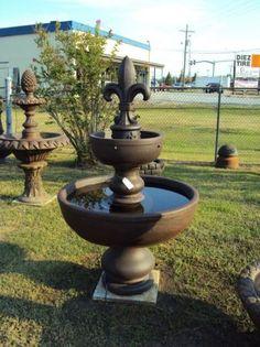 Designer Fleur de Lis 2-Tier Fountain Made in the USA