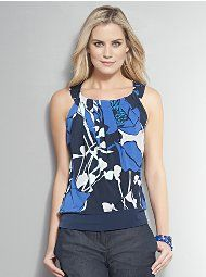 Pleated Floral Shell $26.95