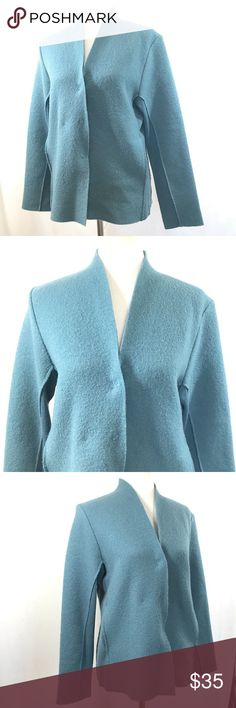 "Eileen Fisher Women Jacket Sz Small Teal Blue Eileen Fisher Women Jacket Sz Small Teal Blue Basic Wool Cardigan Closet Staple     Size: Small  Color: Teal Blue  (Laying flat) Shoulder to shoulder: 16""  (Laying flat) underarm to underarm: 20.5""  (Laying flat) Shoulder to hem: 26.5""  Pre-owned, Used, No rips, stains or holes  All items are as pictured.  Please see all pictures before buying. Eileen Fisher Jackets & Coats"