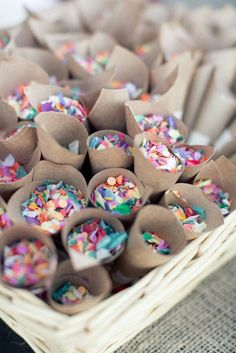 Spring Wedding Trends Give your guests confetti, sprinkles, or glitter. to throw instead of rice - - definitely want confetti or glitter or both for my wedding. Bridal Musings, Wedding Bells, Diy Wedding, Dream Wedding, Wedding Day, Wedding Favors, Rustic Wedding, Wedding Summer, Garden Wedding