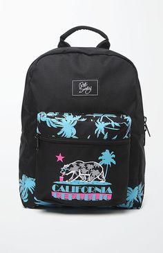 Riot Society Cali Vice School Backpack – Mens Backpacks – Black – One