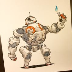 BB-8 just loves his new mech suit.  Happy Star Wars Day everyone!