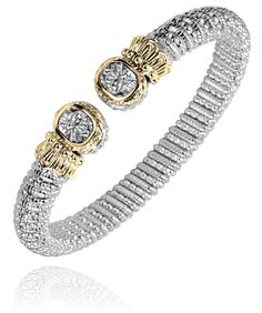 8 mm bracelet in 14k gold and sterling silver. #VahanTwoTone #VahanPinterest