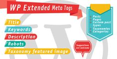 Review WP Extended Meta Tagsso please read the important details before your purchasing anyway here is the best buy