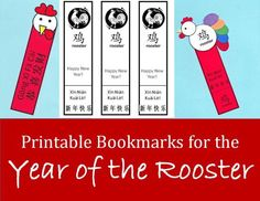 Printable Rooster Bookmarks for Chinese New Year: Kid Crafts for the Year of the Rooster | Holidappy
