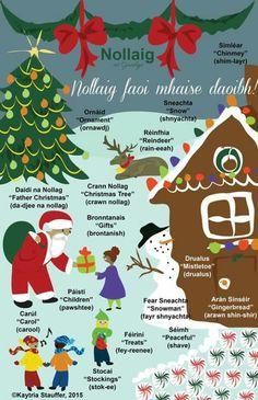 Irish language learners Christmas Quotes, Christmas Time, Irish Celtic, Gaelic Irish, Irish Pride, Christmas In Ireland, Gaelic Words, Irish Culture, Ireland