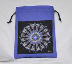 Nature Mandala Drawstring Bag  Purple/blue by Allenx2PhotoandCraft, $20.00