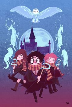 Brave Wizarding a Harry Potter Homage poster by theGorgonist on Etsy… Fanart Harry Potter, Harry Potter Film, Harry Potter Universe, Poster Harry Potter, Magie Harry Potter, Classe Harry Potter, Harry Potter Wallpaper, Harry Potter Hermione, Harry Potter Characters