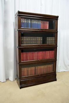 Edwardian Oak Globe Wernicke Bookcase | Sutton Antieks