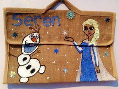 Frozen book bag Personalised Jute Bags, Frozen Book, Burlap, Reusable Tote Bags, Hessian Fabric, Jute, Canvas