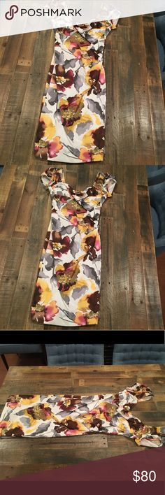 Stop Staring! Floral Dress Beautiful retro-looking floral dress. Perfect for an afternoon party, tea, or the Kentucky Derby, perhaps?  Never been worn Stop Staring Dresses Midi