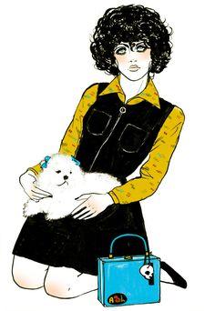 Amanda Lanzone art illustration retro