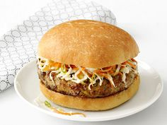 Jerk Turkey Burgers with Mango Slaw recipe from Food Network Kitchen via Food Network This slaw with pulled pork