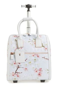 e2970845fbc2 Ted Baker Alayaa Cherry Blossom Two-wheel Travel Travel Bag on Sale