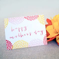 Free printable Mother's Day card and gift tag.