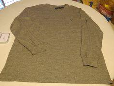 Polo Ralph Lauren Mens long sleeve pocket T shirt 2XLT Dark Vintage grey 219002 #RalphLaurenPolo #tshirt