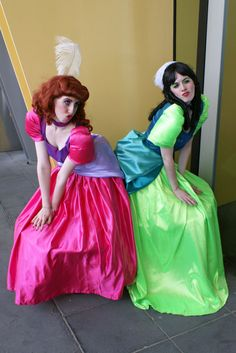 Much love for the ugly step sisters. Cinderella Play, Cinderella Costume, Cinderella Makeup, Creepy Costumes, Diy Costumes, Cosplay Costumes, Sister Costumes, Friend Costumes, Cosplay Dress