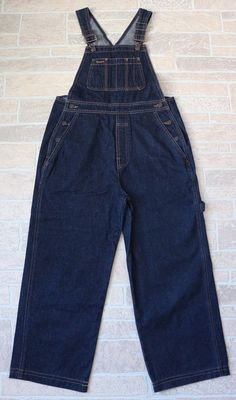 GAP Womens Blue Denim Cotton Overalls XS SHORT LENGTH Extra Small Dark Wash #Gap #Overalls