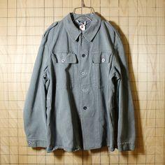 ミリタリー/スイス軍50s-60s古着/ブルーデニムワークジャケット/メンズM相当