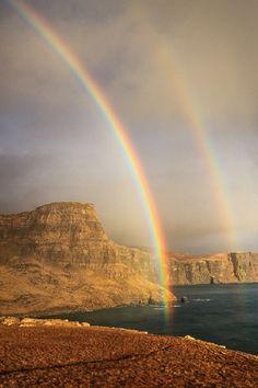 Rainbow Cliffs in Scotland