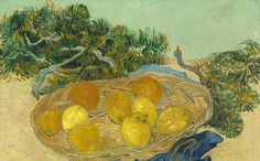 Still Life of Oranges and Lemons with Blue Gloves - Vincent van Gogh, 1889 is among 62 Works transferred to the National Gallery of Art from the estate of Paul Mellon. National Galley of Art - Washington DC.