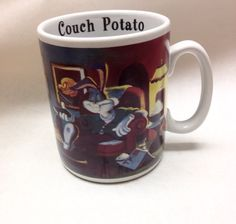 Bugs Bunny Couch Potato Huge Coffee Mug Looney Tunes 1994 Oversized Cup
