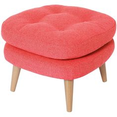 1958 Footstool (660 CAD) ❤ liked on Polyvore featuring home, furniture, ottomans, oliver bonas, ottoman, rooms, coral, two tone furniture and colored furniture