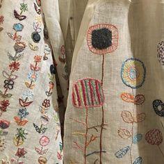 Sophie Digard linen wraps 2016: crewel gobelin