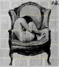 "Saatchi Art Artist Loui Jover; Drawing, ""the chair"""