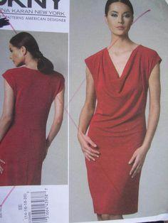 See Sally Sew-Patterns For Less - DKNY Donna Karan Dress Designer Fashion Vogue 1250 Pattern Sz. 14 - 20 , $18.00 (http://stores.seesallysew.com/dkny-donna-karan-dress-designer-fashion-vogue-1250-pattern-sz-14-20/)