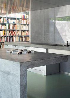Concrete kitchen. OWI // Maarten Van Severen Lemonine