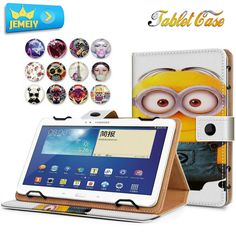 10.1inch Leather Universal case For samsung galaxy Tab 2 10.1 P5100 Cover Printed Stand case