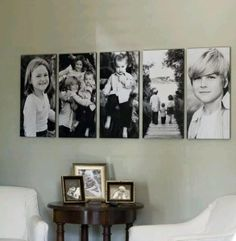 picture wall ideas Gallery Wall Ideas and Inspiration for Picture Frame Displays. Family picture frame ideas and ornament for displaying your home portraits. Picture Frame Display, Display Pictures, Display Ideas, Photo Grouping, Picture Frames, Family Picture Displays, Picture Groupings, Wall Groupings, Photowall Ideas