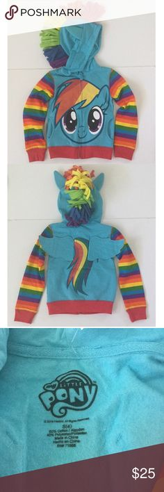 MLP MY LITTLE PONY 4/4T hoodie sweatshirt 🦄 MLP MY LITTLE PONY 4/4T hoodie sweatshirt. Pockets on sides. Zipper in front. Wings in the back. NEW with Tag attached. ✅Please use BUY or OFFER button ✅Please let me know if any non-$ questions My Little Pony Shirts & Tops Sweatshirts & Hoodies