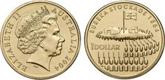 The master coin for the Eureka Stockade series is the only surviving example with the official mint mark deleted. Estimate: $1000.