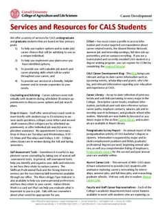 Use Tools Like Our Cals FourYear Academic And Career Advising