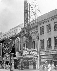Two movie theatres on Rue Sainte-Catherine  1954.