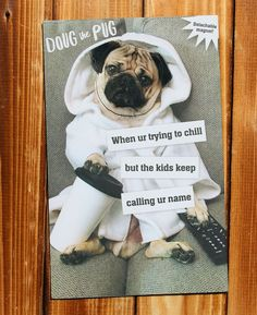 """5e05ec44c53f6 Carlton Cards on Instagram  """"For the dad who has earned all the relaxation  he can get! . . .  itsdougthepug  dougthepug  pugsofinstagram  pugs ..."""