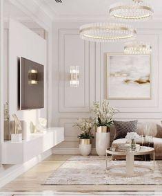 Classy Living Room, Decor Home Living Room, Living Room Modern, Interior Design Living Room, Luxury Interior Design, Home Room Design, Living Room Inspiration, My New Room, House Rooms