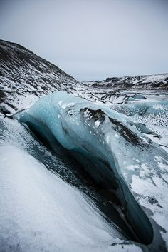 """""""Solheimajokull""""   Photography by Simon Dubreuil   Sólheimajökull glacier tongue, part of Mýrdalsjökull ice cap   southern coast of Iceland"""