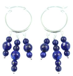 LAPIS HOOP CHANDELIER EARRINGS    Lapis and sterling silver earrings.    Particularly works well with denim and blue garments.  ...  Colour: Blue    Size: 5.5cm    £24.00     http://www.gemjewelleryshop.com/product-information/35/374/lapis-hoop-chandelier-earrings/See More