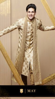 Manyavar brings you a wide range of designer Indian ethnic wear like kurta pajamas, Indo-western outfits, traditional sherwanis & wedding wear for men. Get the most elegant Indian traditional look this wedding season. Indian Wedding Clothes For Men, Sherwani For Men Wedding, Sherwani Groom, Indian Wedding Outfits, Blue Sherwani, Mens Sherwani, Sikh Wedding, Couple Wedding Dress, Bridal Lehenga Online