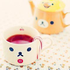 Картинка с тегом «kawaii, rilakkuma, and cup»