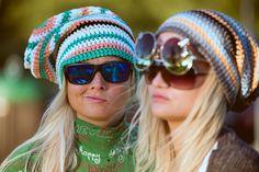 100% cotton handmade surf beanies #Zizterz #KnitZizterz #Surf #Beanie #Blonde #Sisters