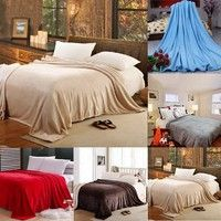Materal: Polyester microfiber Color: Red, Blue, Camel, Grey, Coffee Size of Small: (L)x(W): 1.5m x