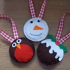 Afbeeldingsresultaat voor felt christmas decorations