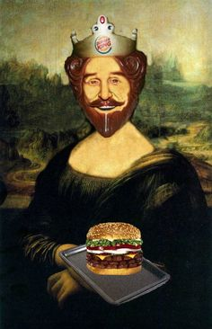 Versiones divertidas de La Mona Lisa: Burger King
