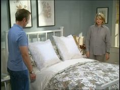Martha Stewart and Mark Ski make a bed designed for a perfect night's sleep.